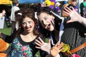 In Focus - Martina Cross and Amy performing their roaming act The Tatter...